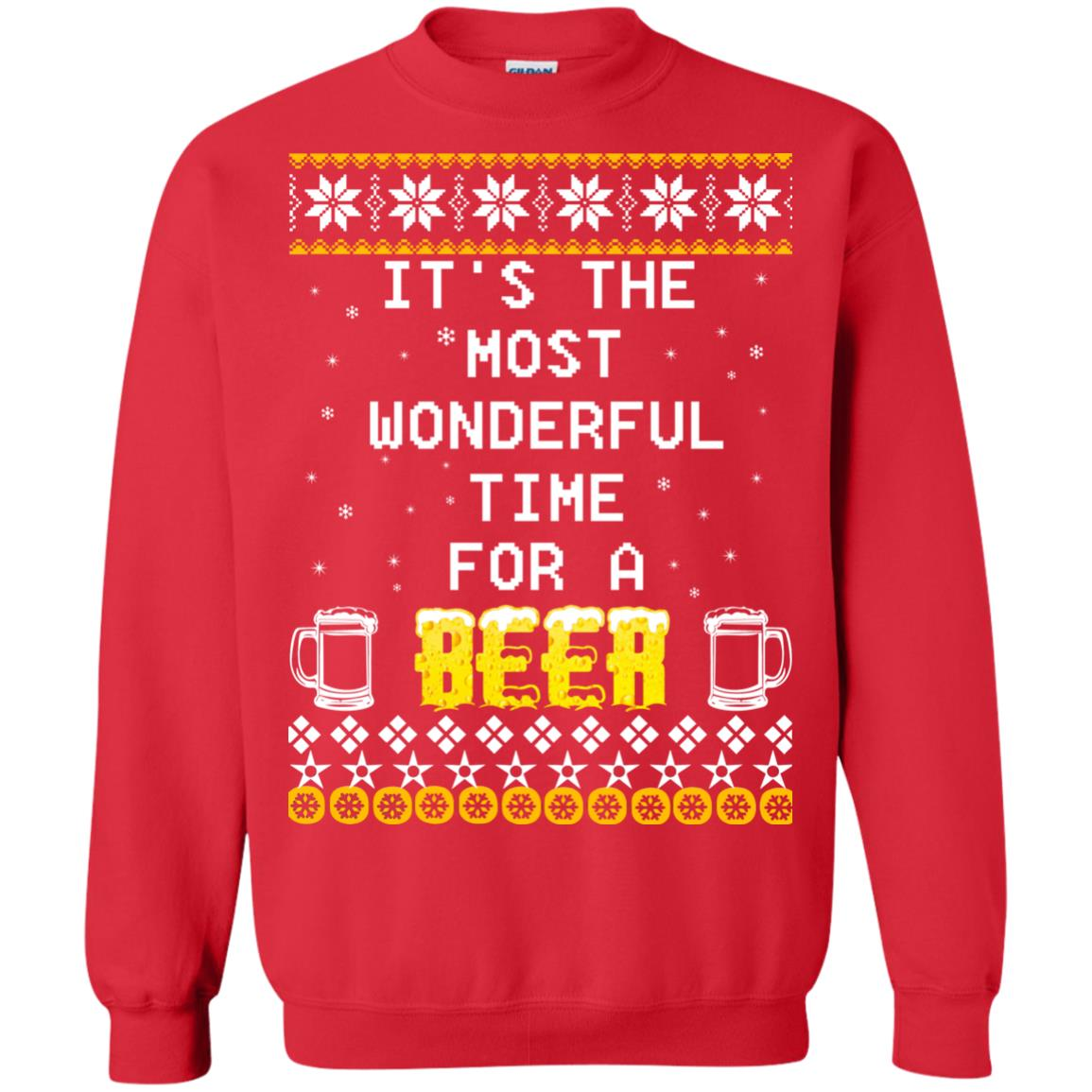 Beer Christmas Sweater.It S The Most Wonderful Time For A Beer Christmas Sweater Shirt Icestork