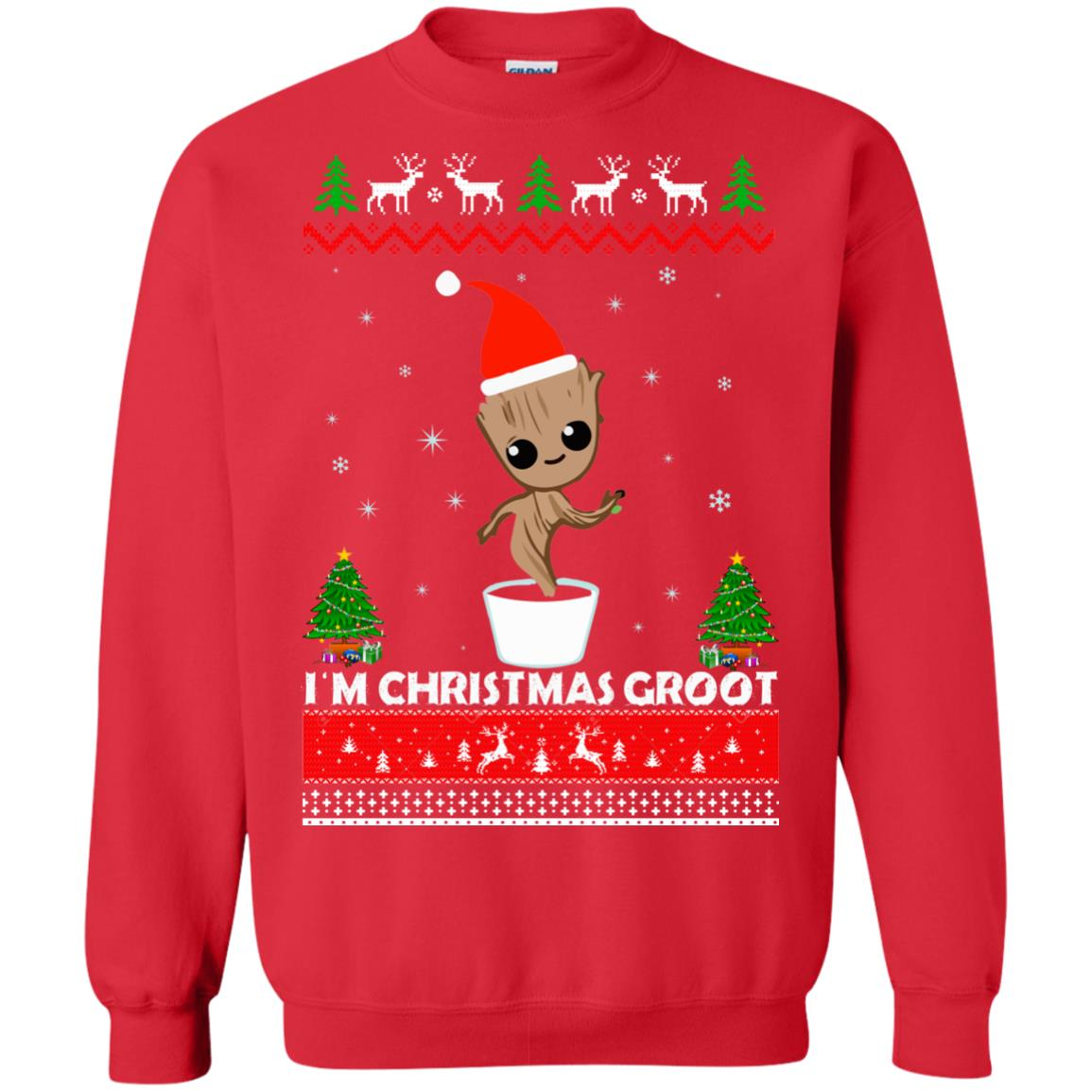7dce03714 Guardians of the Galaxy: I'm Christmas Groot Ugly Sweater, Shirt - image