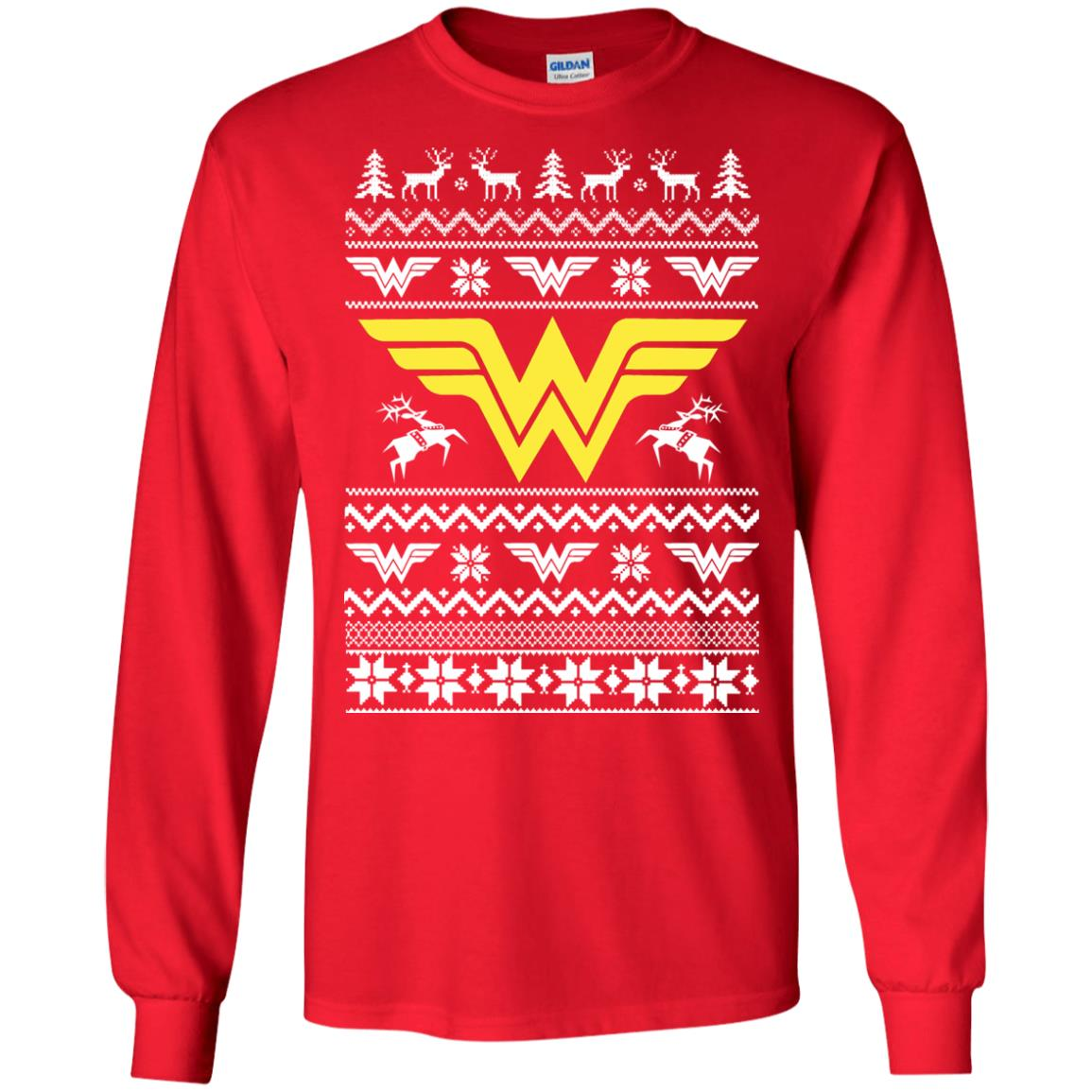 wonder woman christmas sweater hoodie long slee image 1903 500x500