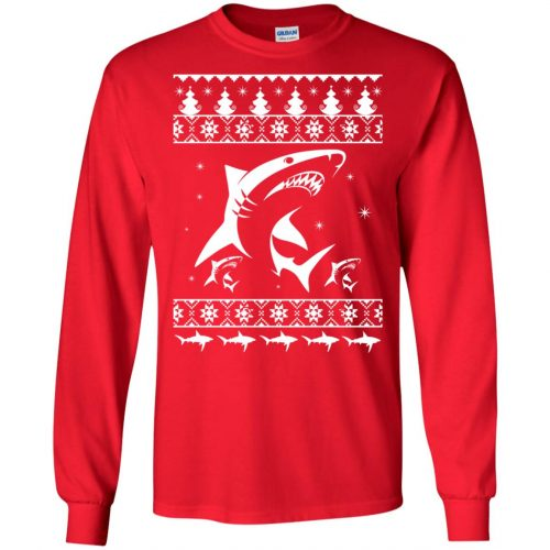 Shark Ugly Christmas Sweater, Hoodie, Long Sleeve - image 2168 500x500
