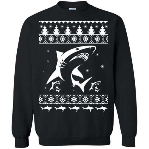 Shark Ugly Christmas Sweater, Hoodie, Long Sleeve - image 2172 500x500