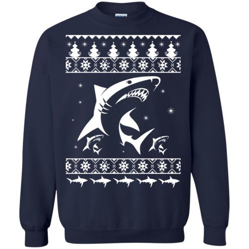 Shark Ugly Christmas Sweater, Hoodie, Long Sleeve - image 2173 500x500