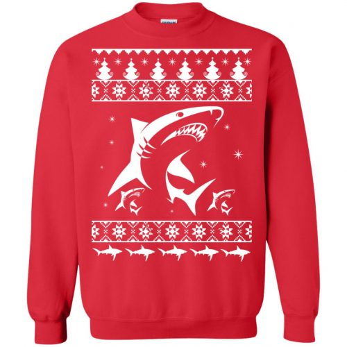 Shark Ugly Christmas Sweater, Hoodie, Long Sleeve - image 2174 500x500