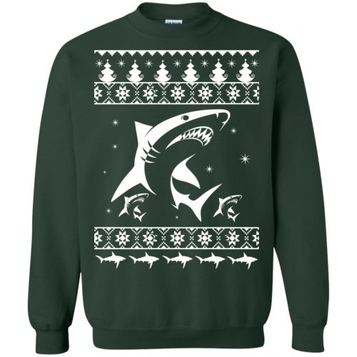 Shark Ugly Christmas Sweater, Hoodie, Long Sleeve - image 2175 500x500
