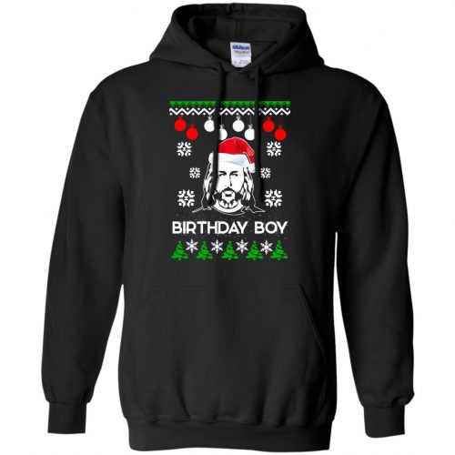 Jesus Birthday Boy Ugly Christmas Sweater, Crewneck Sweatshirt - image 2218 500x500