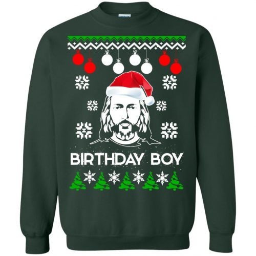 Jesus Birthday Boy Ugly Christmas Sweater, Crewneck Sweatshirt - image 2223 500x500
