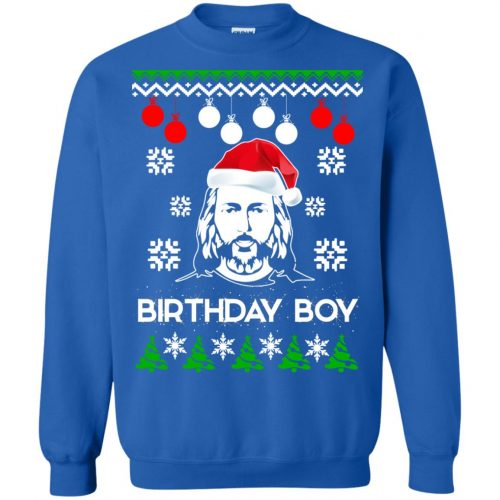 Jesus Birthday Boy Ugly Christmas Sweater, Crewneck Sweatshirt - image 2224 500x500