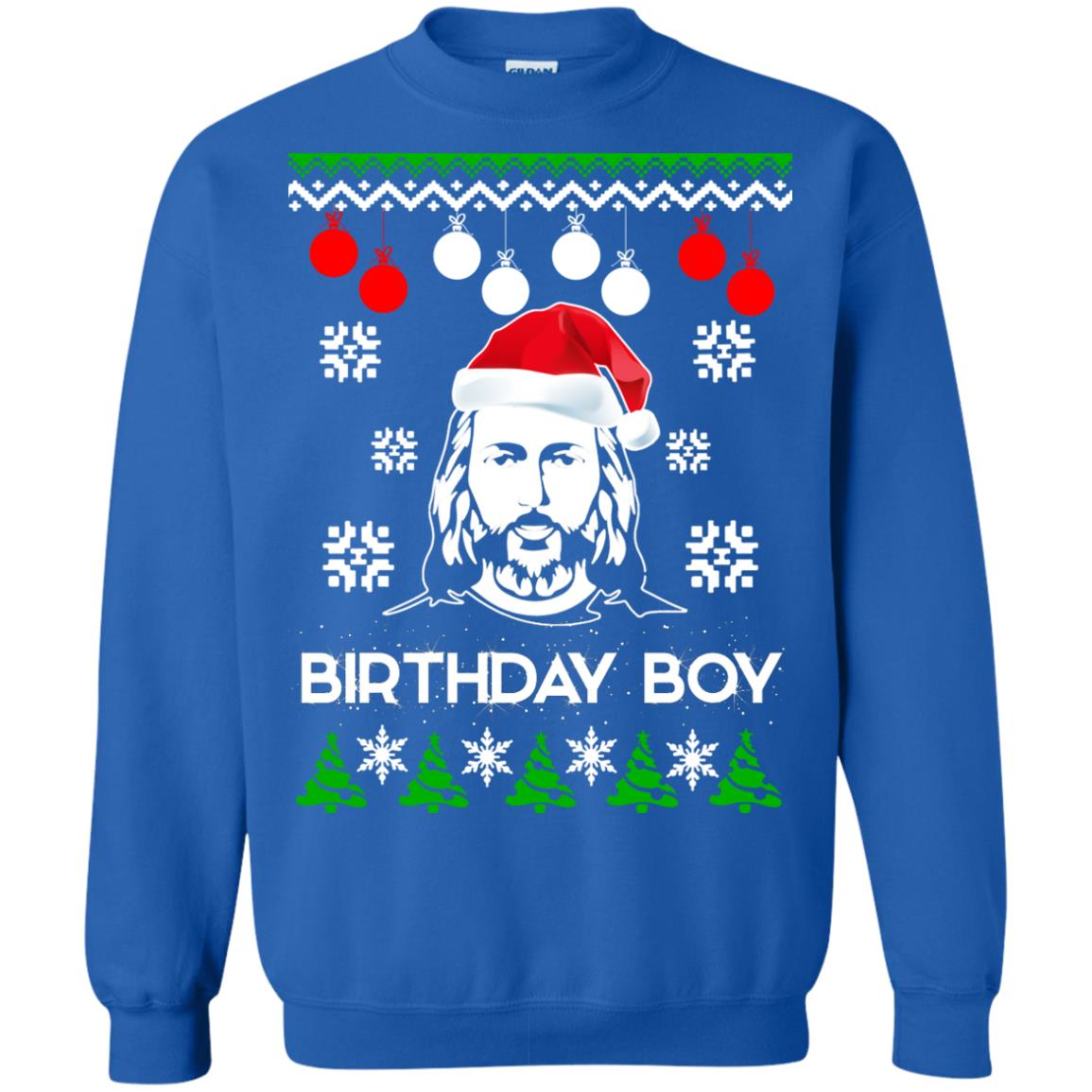 Jesus Birthday Boy Ugly Christmas Sweater, Crewneck Sweatshirt ...