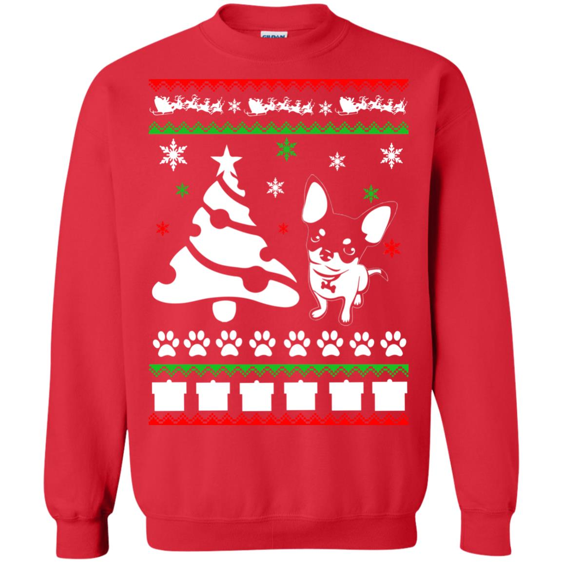 chihuahua ugly christmas sweater hoodie icestork. Black Bedroom Furniture Sets. Home Design Ideas
