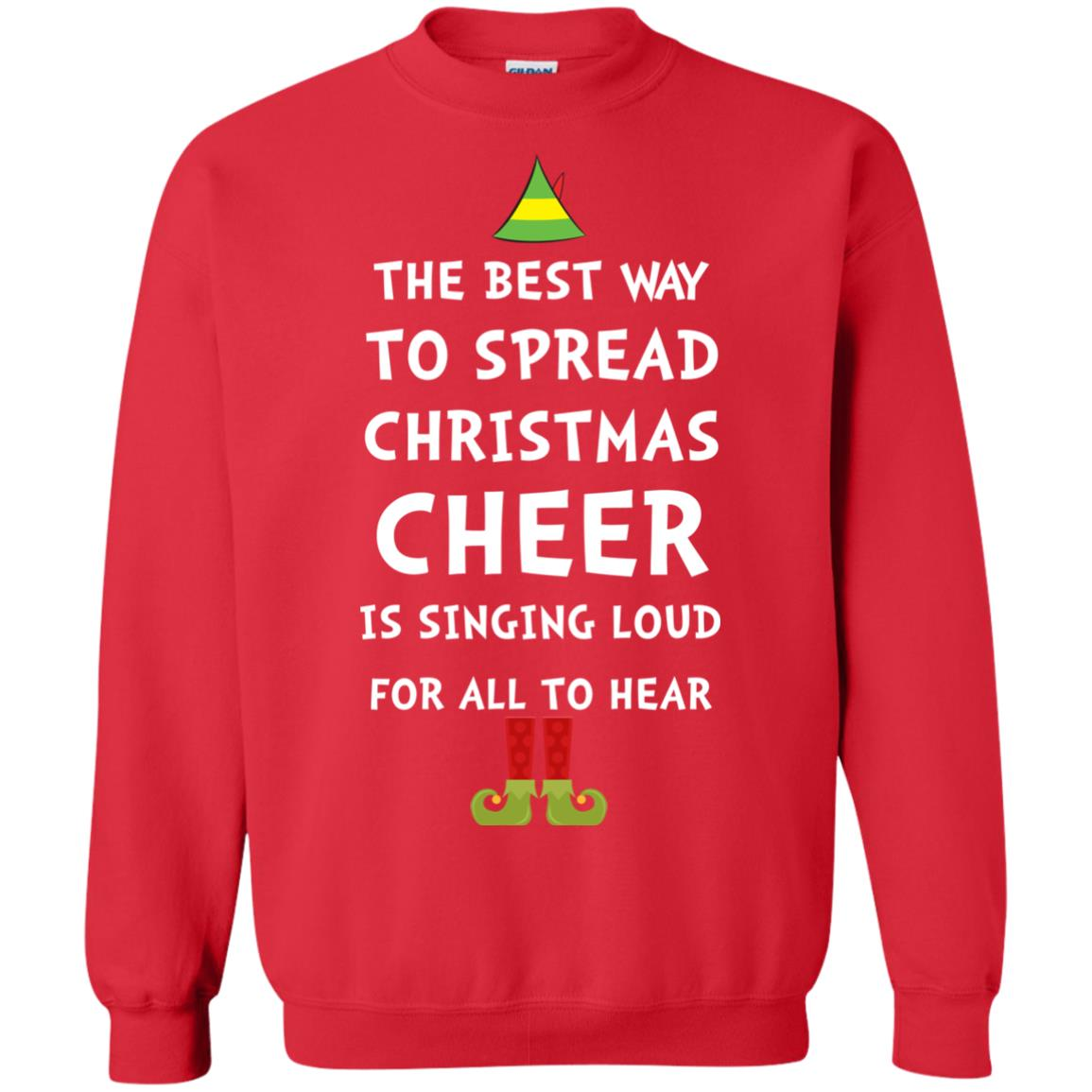 elf the best way to spread christmas cheer sweater shirt hoodie image 2378