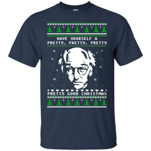 Larry David Have yourself a Pretty Good Christmas Ugly Sweater, T-shirt - image 265 500x500