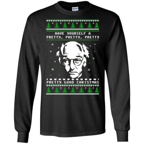 Larry David Have yourself a Pretty Good Christmas Ugly Sweater, T-shirt - image 266 500x500