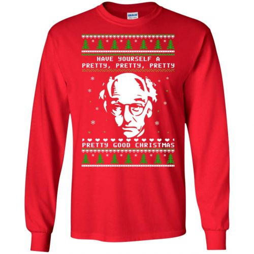 Larry David Have yourself a Pretty Good Christmas Ugly Sweater, T-shirt - image 267 500x500