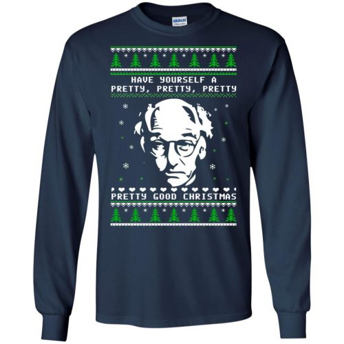 Larry David Have yourself a Pretty Good Christmas Ugly Sweater, T-shirt - image 268 500x500