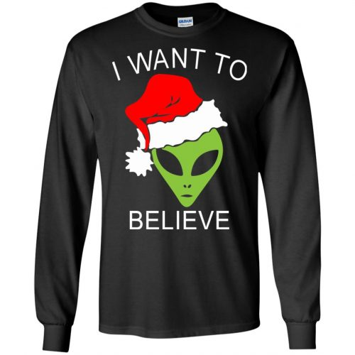 Alien I Want To Believe Christmas Sweatshirt, Hoodie - image 2686 500x500