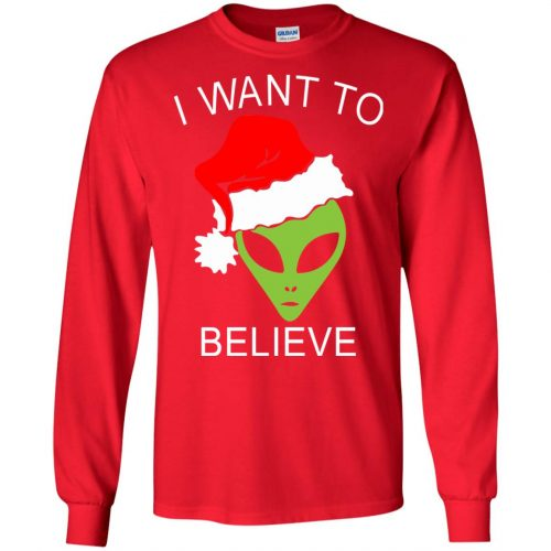 Alien I Want To Believe Christmas Sweatshirt, Hoodie - image 2687 500x500