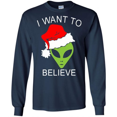 Alien I Want To Believe Christmas Sweatshirt, Hoodie - image 2688 500x500