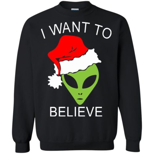 Alien I Want To Believe Christmas Sweatshirt, Hoodie - image 2692 500x500