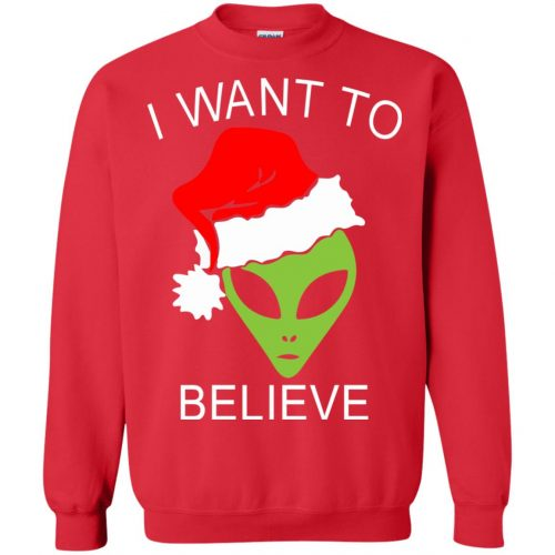 Alien I Want To Believe Christmas Sweatshirt, Hoodie - image 2694 500x500