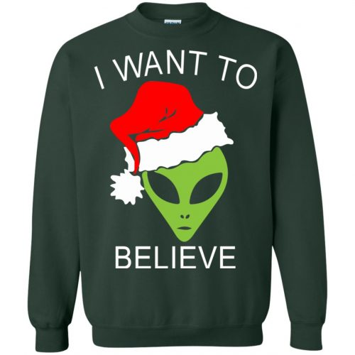 Alien I Want To Believe Christmas Sweatshirt, Hoodie - image 2695 500x500