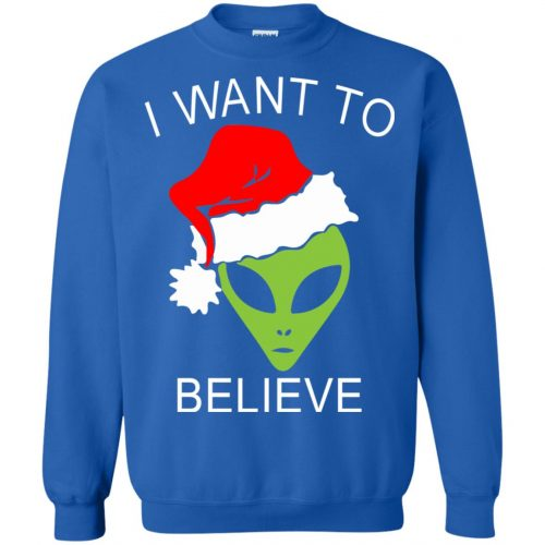 Alien I Want To Believe Christmas Sweatshirt, Hoodie - image 2696 500x500