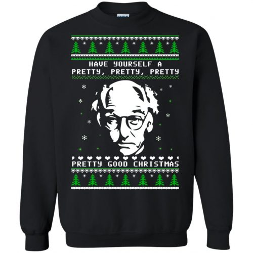 Larry David Have yourself a Pretty Good Christmas Ugly Sweater, T-shirt - image 271 500x500