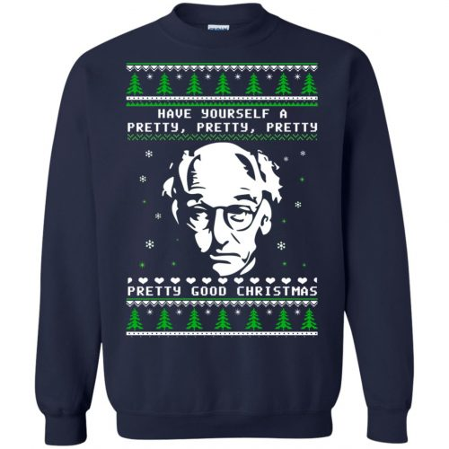 Larry David Have yourself a Pretty Good Christmas Ugly Sweater, T-shirt - image 272 500x500