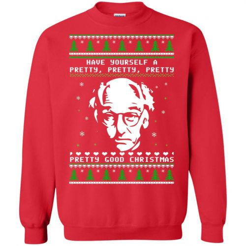 Larry David Have yourself a Pretty Good Christmas Ugly Sweater, T-shirt - image 273 500x500