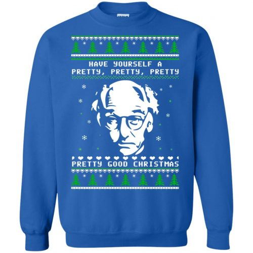 Larry David Have yourself a Pretty Good Christmas Ugly Sweater, T-shirt - image 275 500x500