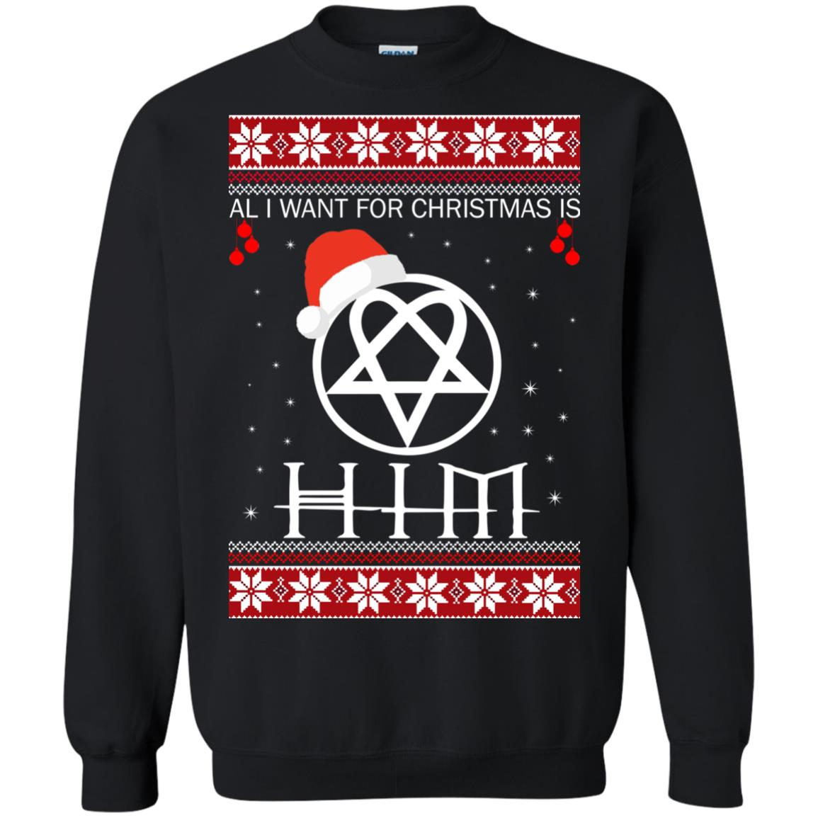 Band Ugly Christmas Sweaters.Rock Band All I Want For Christmas Is Him Ugly Sweater Shirt Icestork