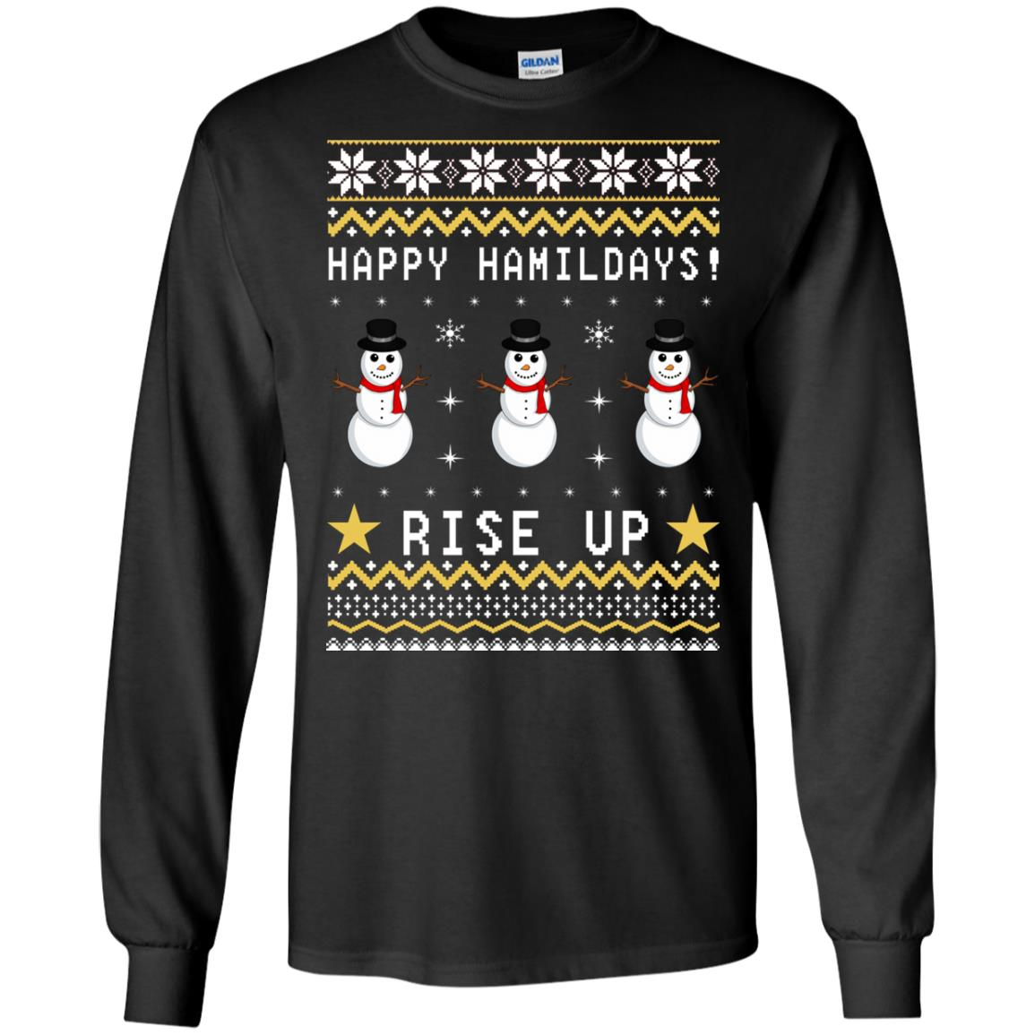Happy Hamildays Rise Up Christmas Ugly Sweater, Shirt - image 3391