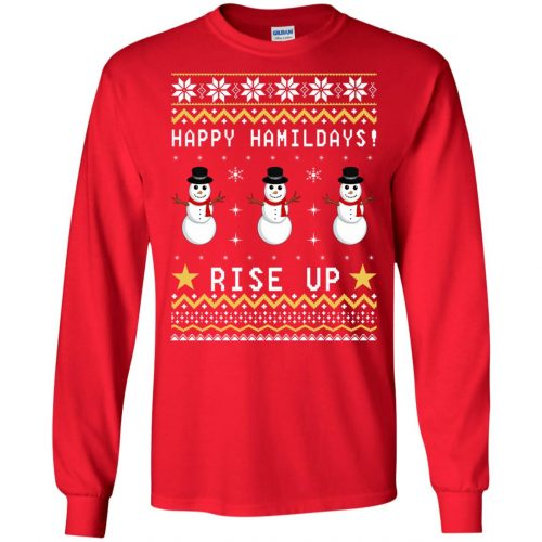 Happy Hamildays Rise Up Christmas Ugly Sweater, Shirt - image 3392 500x500