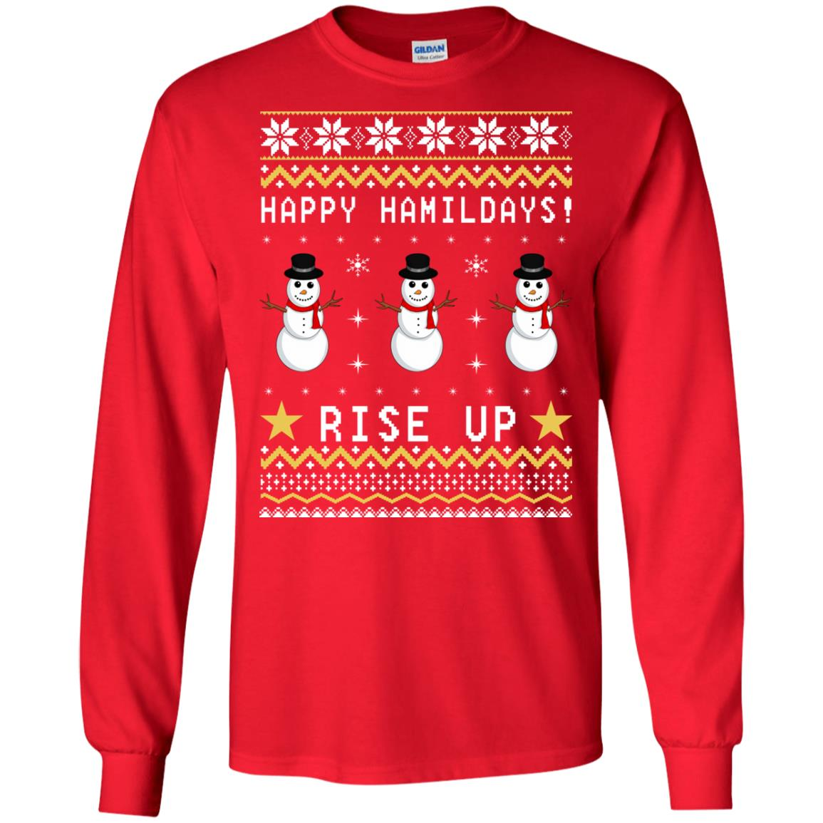 Happy Hamildays Rise Up Christmas Ugly Sweater, Shirt - image 3392