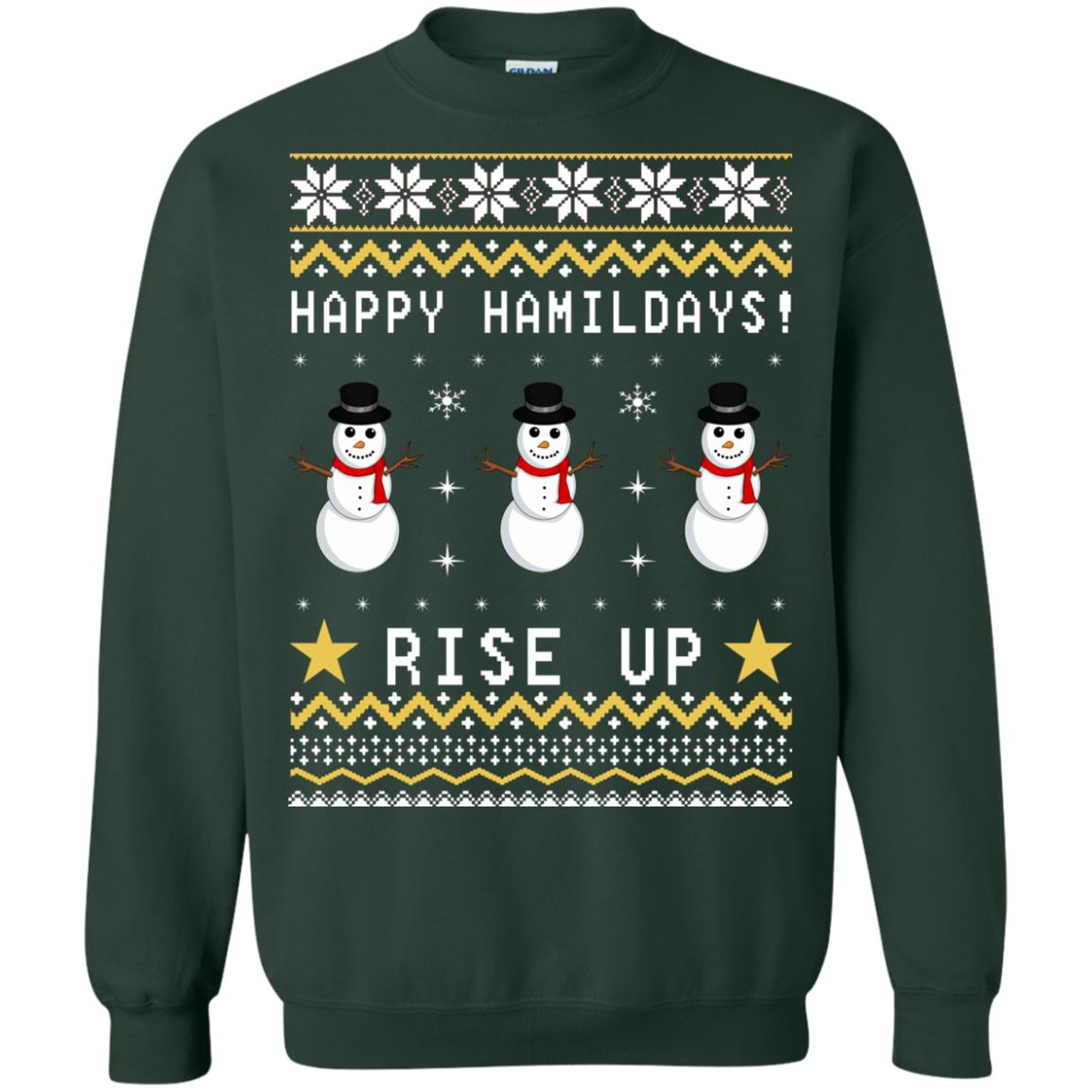 Happy Hamildays Rise Up Christmas Ugly Sweater, Shirt - image 3399