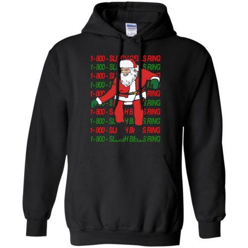 1-800 Sleigh Bells Ring Santa Christmas Sweater, Hoodie - image 3860 500x500