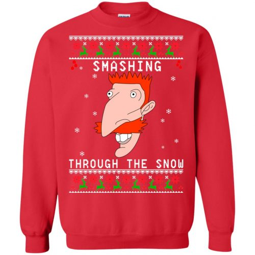 Nigel Thornberry Smashing Through The Snow Christmas Sweater, Shirt - image 765 500x500