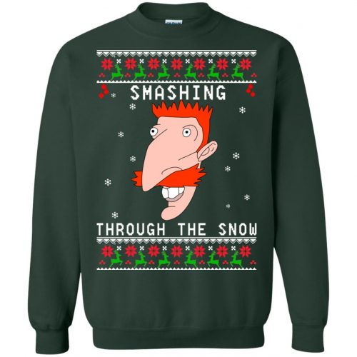 Nigel Thornberry Smashing Through The Snow Christmas Sweater, Shirt - image 766 500x500