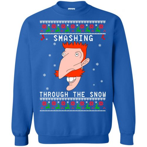 Nigel Thornberry Smashing Through The Snow Christmas Sweater, Shirt - image 767 500x500