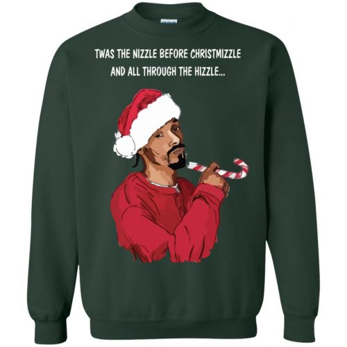 Snoop Dogg twas the nizzle before Christmizzle Shirt, Sweater - image 773 500x500
