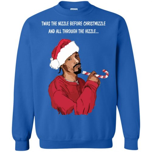 Snoop Dogg twas the nizzle before Christmizzle Shirt, Sweater - image 774 500x500