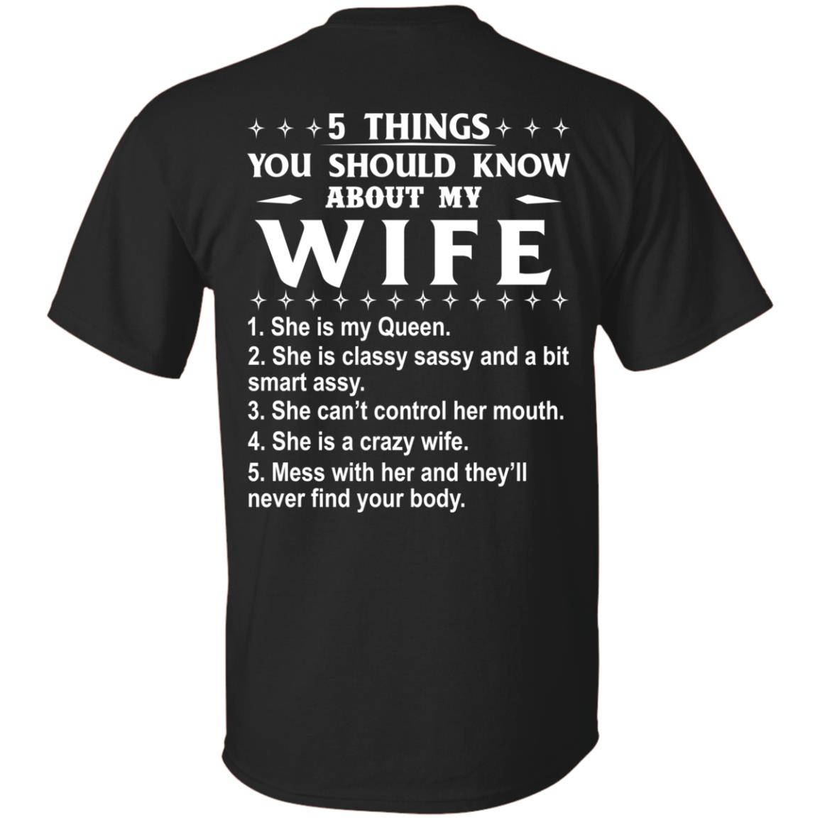 5 Things You Should Know About My wife Shirt & Sweatshirt - image 403