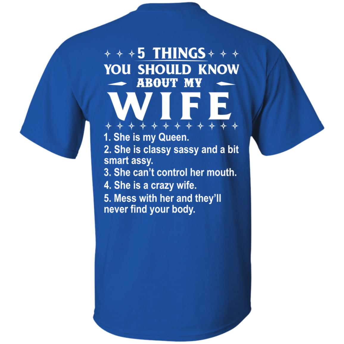 5 Things You Should Know About My wife Shirt & Sweatshirt - image 404
