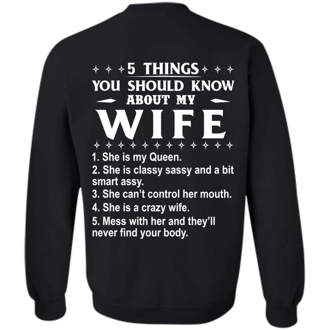 5 Things You Should Know About My wife Shirt & Sweatshirt - image 410