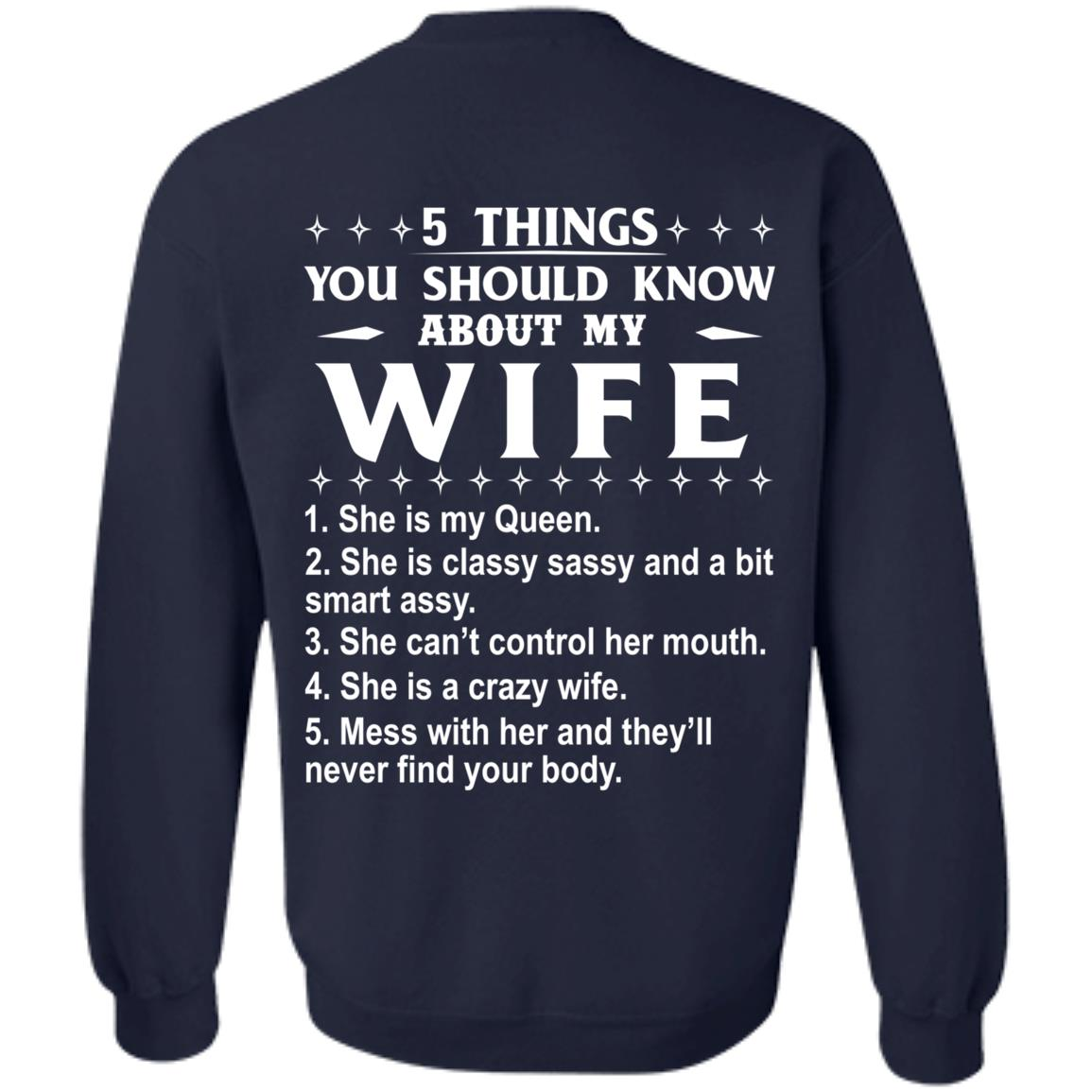 5 Things You Should Know About My wife Shirt & Sweatshirt - image 411
