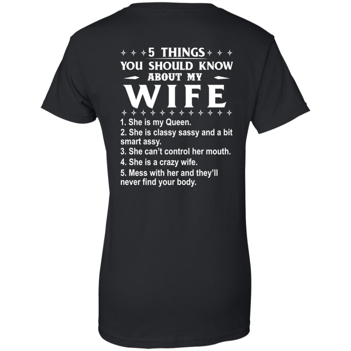 5 Things You Should Know About My wife Shirt & Sweatshirt - image 414