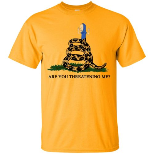 Gadsden Flag Beavis Are you Threatening Me t-shirt, hoodie - image 383 500x500