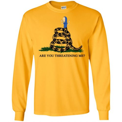 Gadsden Flag Beavis Are you Threatening Me t-shirt, hoodie - image 386 500x500