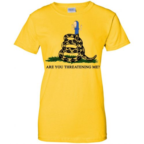 Gadsden Flag Beavis Are you Threatening Me t-shirt, hoodie - image 390 500x500