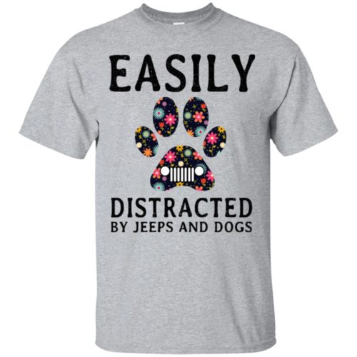 Easily Distracted by Jeeps and Dogs shirt - image 2323 500x500