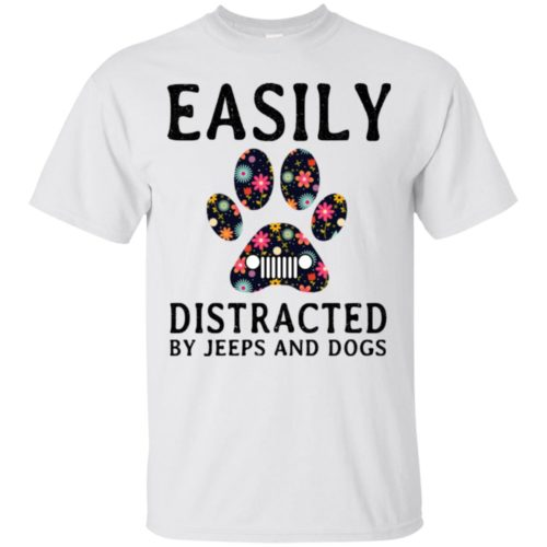 Easily Distracted by Jeeps and Dogs shirt - image 2325 500x500